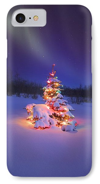 Christmas Tree Glowing Under The Phone Case by Carson Ganci