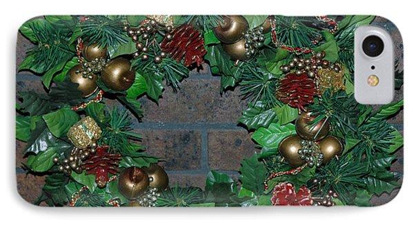 Christmas Wreath IPhone Case by LeeAnn McLaneGoetz McLaneGoetzStudioLLCcom