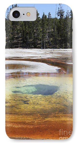 Chromatic Pool Hot Spring, Upper Geyser Phone Case by Richard Roscoe