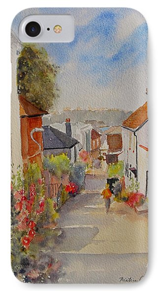 IPhone Case featuring the painting Church Hill - Hythe- Uk by Beatrice Cloake