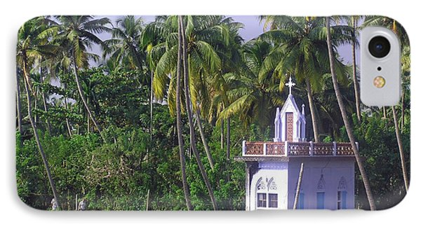 Church Located On A Coastal Lagoon In Kerala In India IPhone Case by Ashish Agarwal