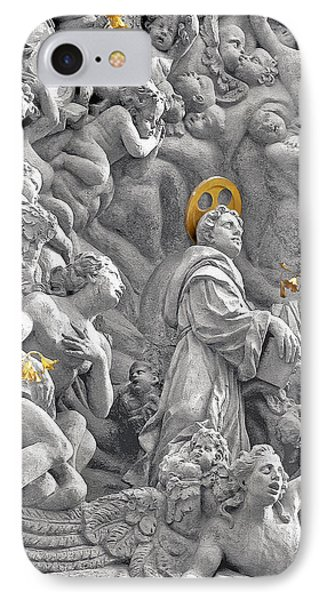 Church Of St James The Greater Prague - Stucco Bas-relief Phone Case by Christine Till