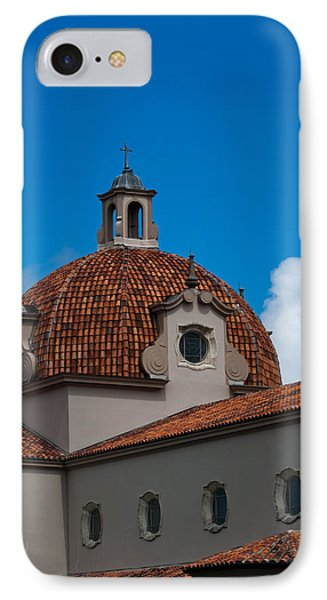IPhone Case featuring the photograph Church Of The Little Flower Dome And Cross by Ed Gleichman