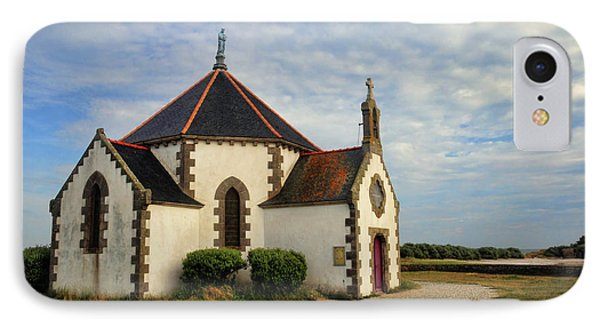 IPhone Case featuring the photograph Church Off The Brittany Coast by Dave Mills