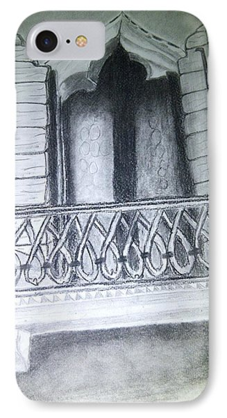 Church Window Phone Case by Irving Starr
