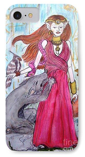 Circe The Sorceress Phone Case by Koral Garcia