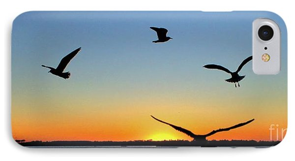 Circle Meeting At Sunrise IPhone Case by Benanne Stiens