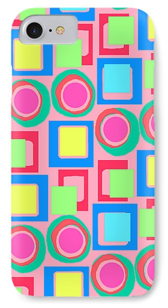 Circles And Squares Phone Case by Louisa Knight