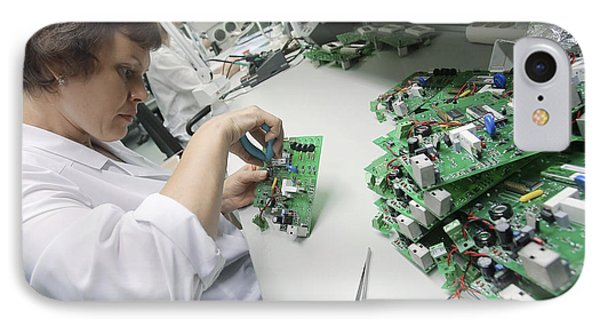 Circuit Board Assembly Work IPhone Case