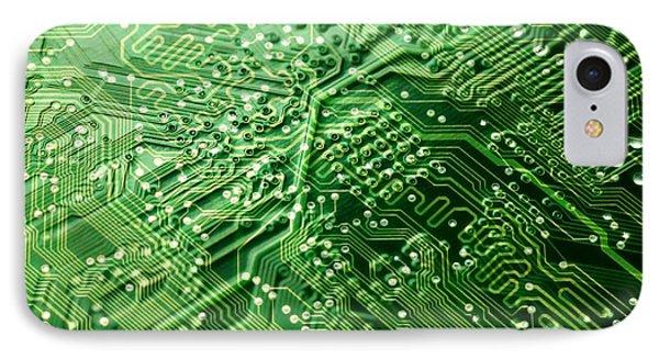 Circuit Board, Computer Artwork Phone Case by Pasieka