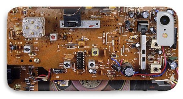 Circuit Board In A Portable Radio IPhone Case