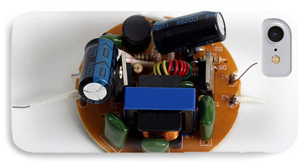 Circuit Board Of Light Bulb IPhone Case