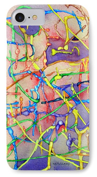 Circuitry In Color IPhone Case by Mary Kay Holladay