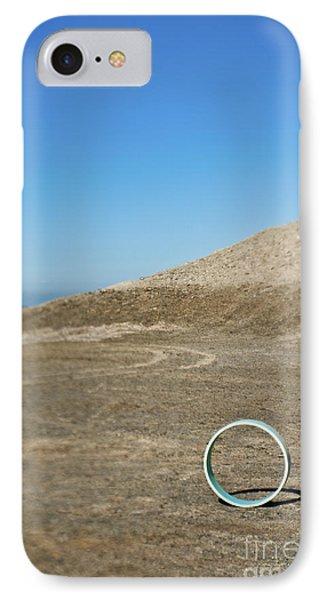 Circular Object On Beach Phone Case by Eddy Joaquim
