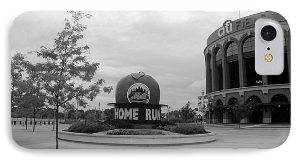 Citi Field In Black And White Phone Case by Rob Hans