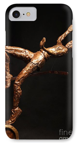 Citius Altius Fortius Olympic Art High Jumper On Black Phone Case by Adam Long
