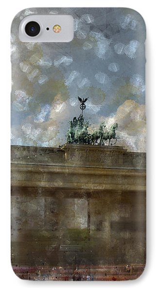 City-art Berlin Brandenburger Tor II Phone Case by Melanie Viola