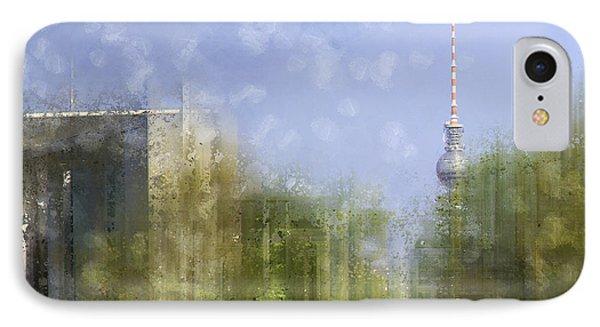 City-art Berlin River Spree Phone Case by Melanie Viola
