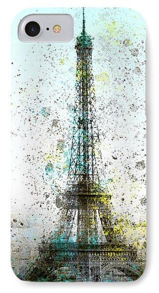 City-art Paris Eiffel Tower II Phone Case by Melanie Viola