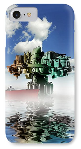 City At Sea, Artwork Phone Case by Victor Habbick Visions
