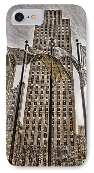 IPhone Case featuring the photograph City Glitz by Anne Rodkin