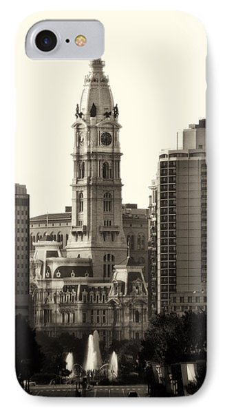 City Hall From The Parkway - Philadelphia Phone Case by Bill Cannon