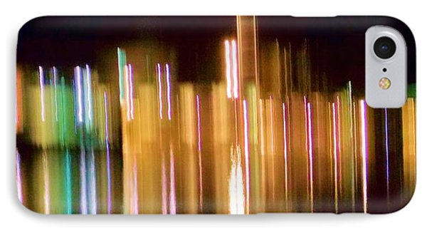 City Lights Over Water Abstract Phone Case by Carolyn Repka