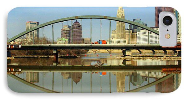 City Reflections Through A Bridge IPhone Case