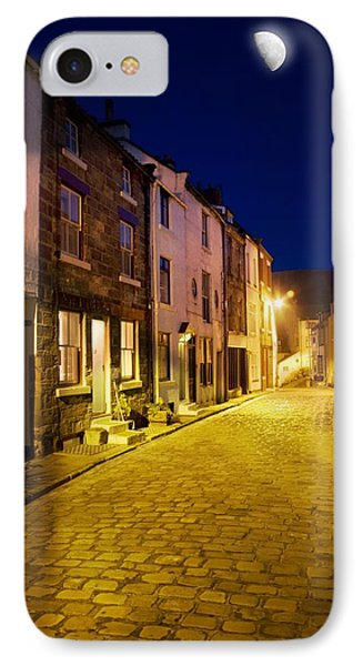City Street At Night, Staithes Phone Case by John Short