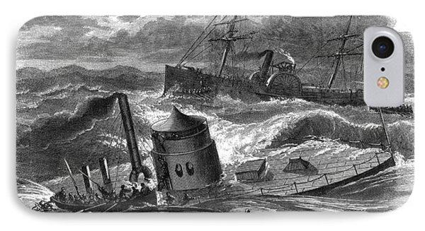 Civil War: Monitor Sinking Phone Case by Granger