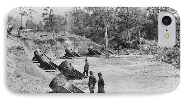 Civil War Mortar Battery IPhone Case by Photo Researchers