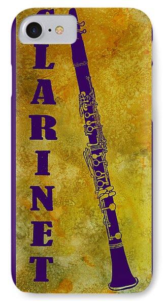 Clarinet Phone Case by Jenny Armitage