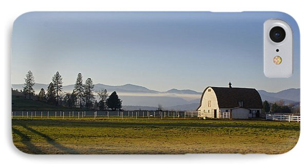 IPhone Case featuring the photograph Classic Barn In The Country by Mick Anderson