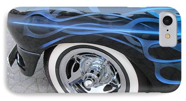 Classic Car Blue Flame 4 Phone Case by Anita Burgermeister
