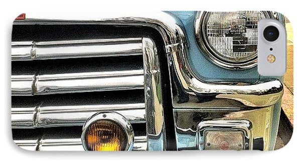 Classic Car Headlamp IPhone Case by Julie Gebhardt