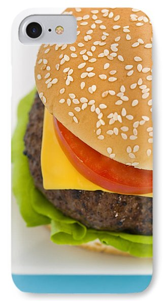 Classic Hamburger With Cheese Tomato And Salad Phone Case by Ulrich Schade