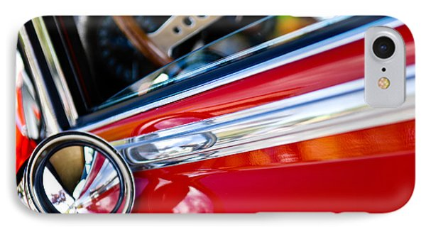 Classic Red Car Artwork IPhone Case by Shane Kelly