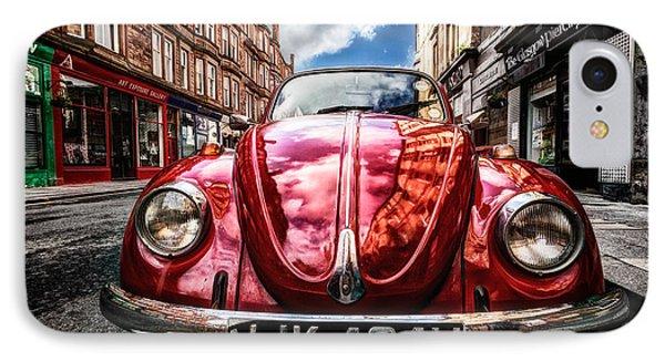 Classic Vw On A Glasgow Street IPhone Case by John Farnan