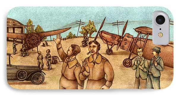 Classical Planes 2 IPhone Case by Autogiro Illustration