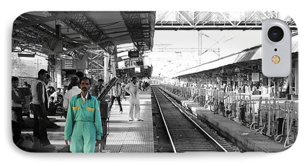 Cleaner At The Train Station Phone Case by Sumit Mehndiratta