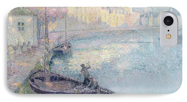 Clear Morning - Quimperle IPhone Case by Henri Eugene Augustin Le Sidaner