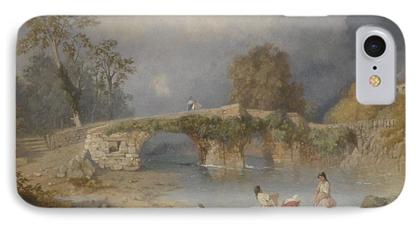 Clearing Up For Fine Weather Beddgelert North Wales 1867 Phone Case by James Baker Pyne