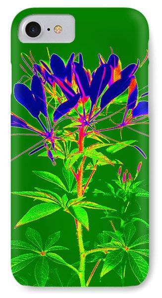 Cleome Gone Abstract Phone Case by Kim Galluzzo Wozniak