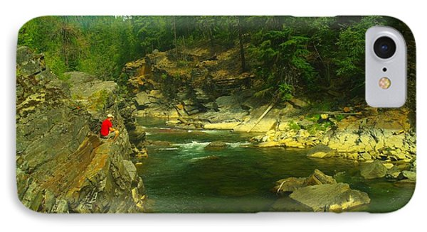 Cliff Over The Yak River Phone Case by Jeff Swan