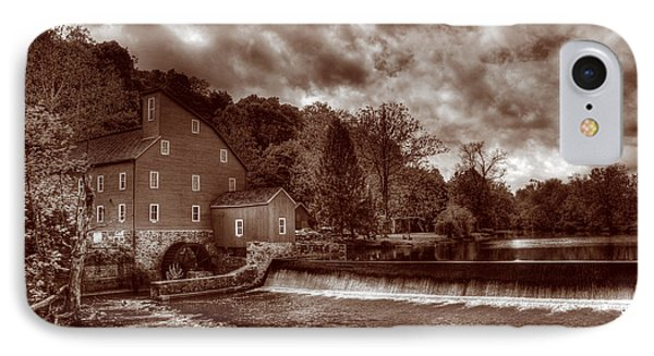 Clinton Red Mill House Sepia Phone Case by Lee Dos Santos