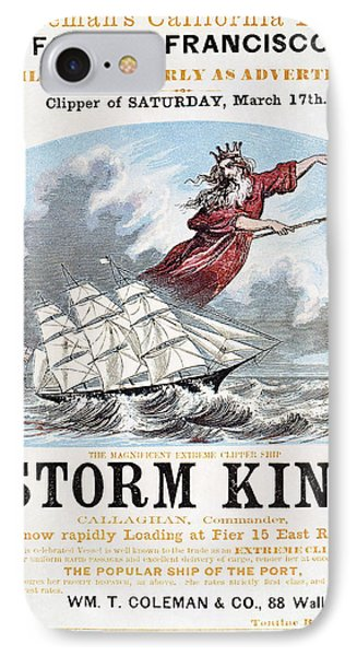 Clipper Ship Ad, C1848 IPhone Case by Granger