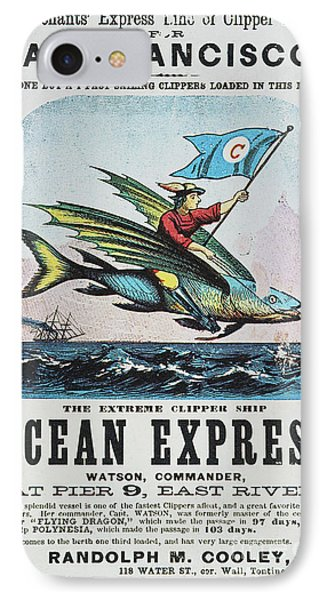 Clipper Ship Card, C1850 Phone Case by Granger