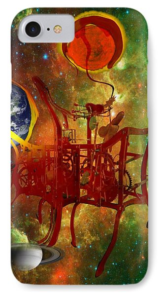 Clock Of Universe Phone Case by Helmut Rottler