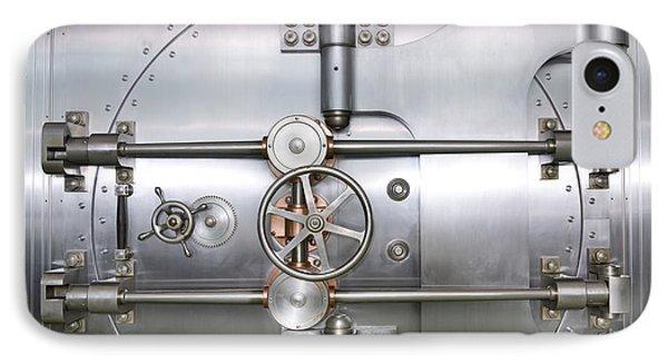 Closed Door To A Bank Vault Phone Case by Adam Crowley
