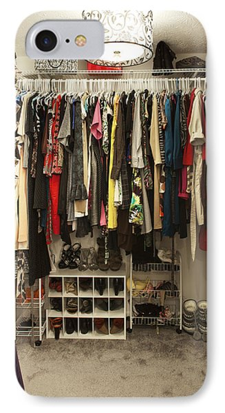 Closet Large Cupboard With Organised IPhone Case